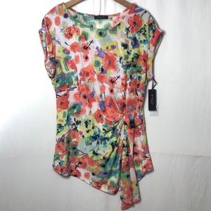 Fylo Abstract Floral Top